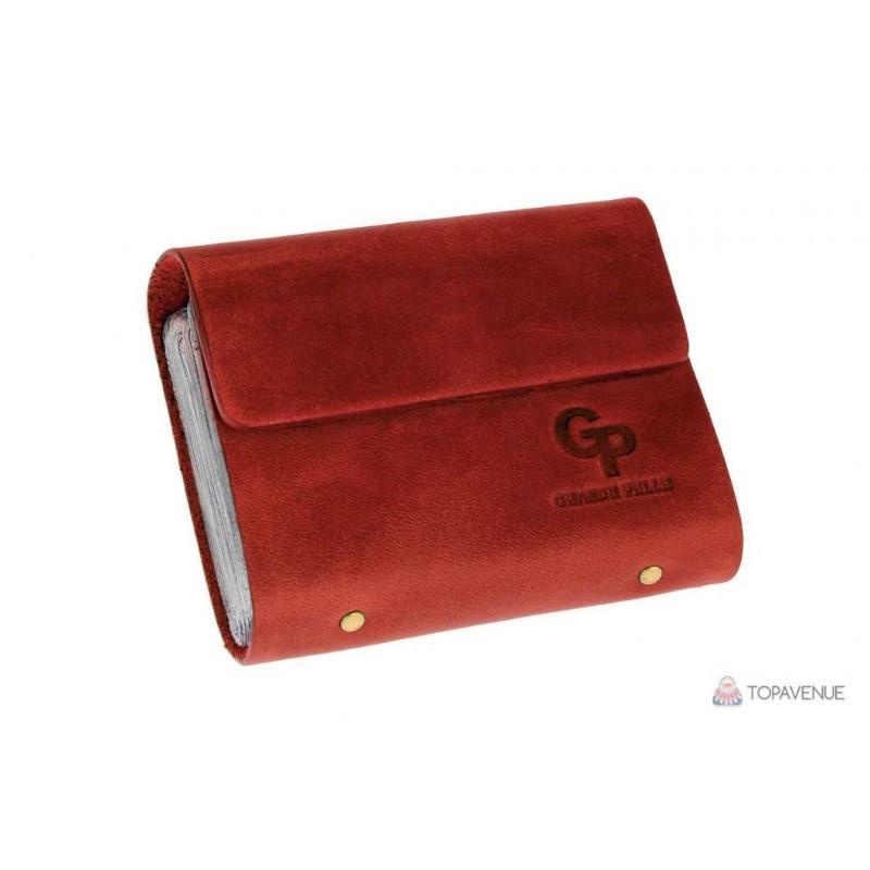 Визитница на 48 карт Grande Pelle 312161 красная матовая