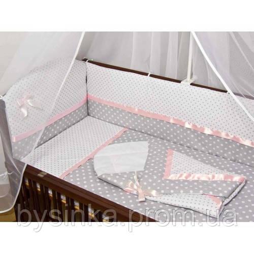Детское постельное белье в кроватку + Конверт на выписку
