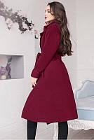 Пальто женское полупальто на запах пояс подклад карман 42 44 46 48 50 Р, фото 1