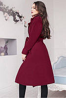 Пальто жіноче півпальто на запах пояс підклад кишеню 42 44 46 48 50 Р, фото 1