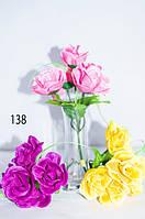 Цветы искусственные, маленький букет роз