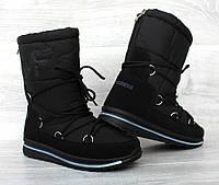 Сучасні жіночому чоботи - дутики зимові місяцеходи (Пр-3107ч)