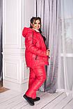 Женский зимний костюм Куртка и штаны Плащевка на синтепоне Подклад овчина Размер 48 50 52 54 56 58, фото 2