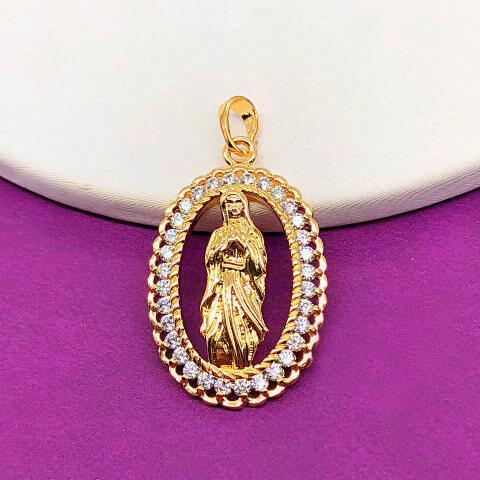 """Ладанка Xuping Jewelry """"Богородица"""" медицинское золото, позолота 18К. А/В 4252"""