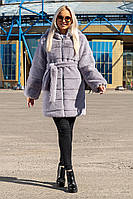 Шуба Шиншилла №18 с утеплителем серый, фото 1