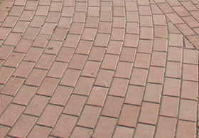 Тротуарная плитка Брусчатка с фаской 200х100х60 (вишня)