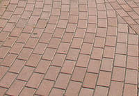 Тротуарная плитка Брусчатка с фаской 200х100х60 (вишня), фото 1