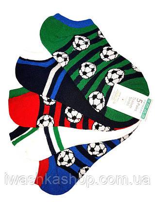 Спортивные низкие носки спринтом мячей на мальчиков от 11 лет, р. 37 - 40, Primark