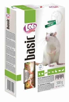 Полнорационный корм LoloPets для крыс, 500 гр