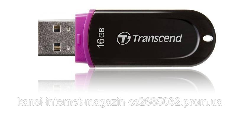 Флешка Transcend 16Gb USB, флеш накопитель 16Гб