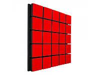 Акустический панель Ecosound Tetras Wood Red 50x50см 33мм цвет красный, фото 1