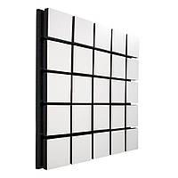 Акустическая панель Ecosound Tetras Wood White 50x50см 33 мм цвет белый