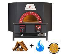 Model ROTATIVO - 100 Valoriani. Печь с вращающимся подом на дровах + газ. Пиццы: 6 шт. Италия