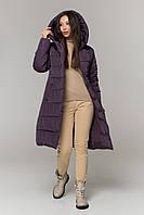 Адель пуховик (плащевка)Темный фиолет, фото 1