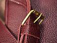 """Сумка мужская компактная кожаная через плечо """"Tiko"""". Цвет бордовый, фото 5"""
