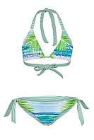 Модный женский  купальник 4 в 1 play L 46-48 принт пальмы зеленый s19APw02_3p
