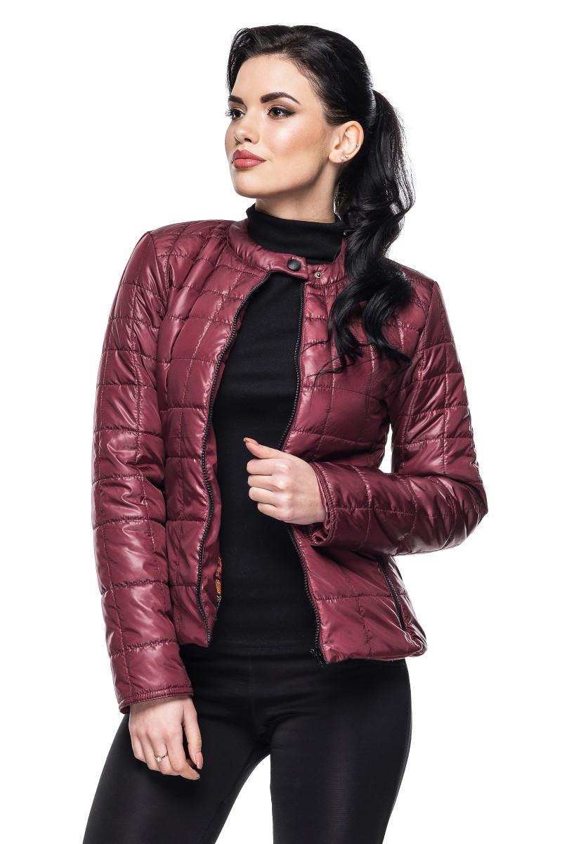 Стильная женская куртка Марта бордо (42-54)