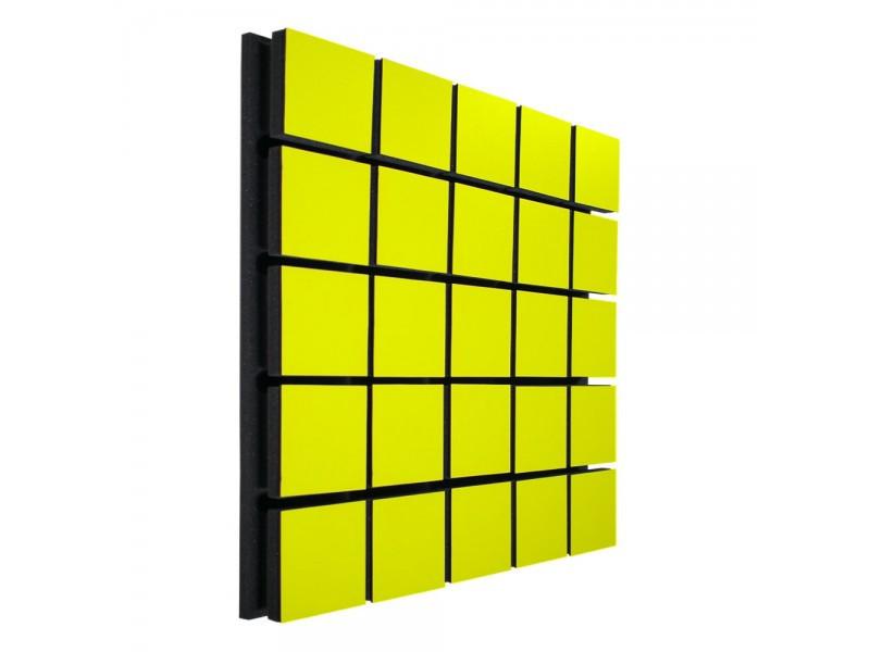 Акустический панель Ecosound Tetras Wood Yellow 50x50см 33мм цвет жёлтый
