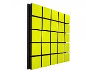 Акустический панель Ecosound Tetras Wood Yellow 50x50см 33мм цвет жёлтый, фото 1