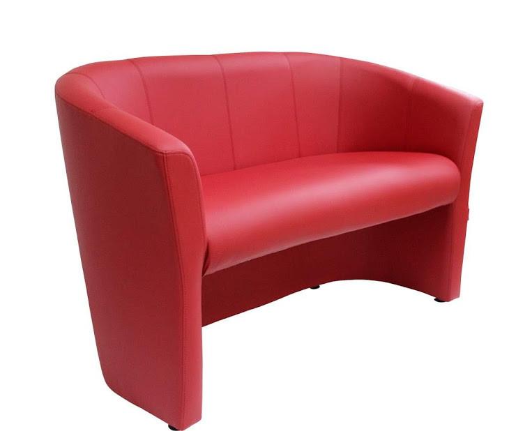Диван Бум двухместный 130 см красный