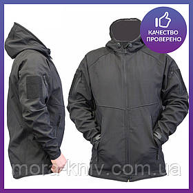 Куртка Софтшел soft shell Ranger Black (police) - аналог M-TAC