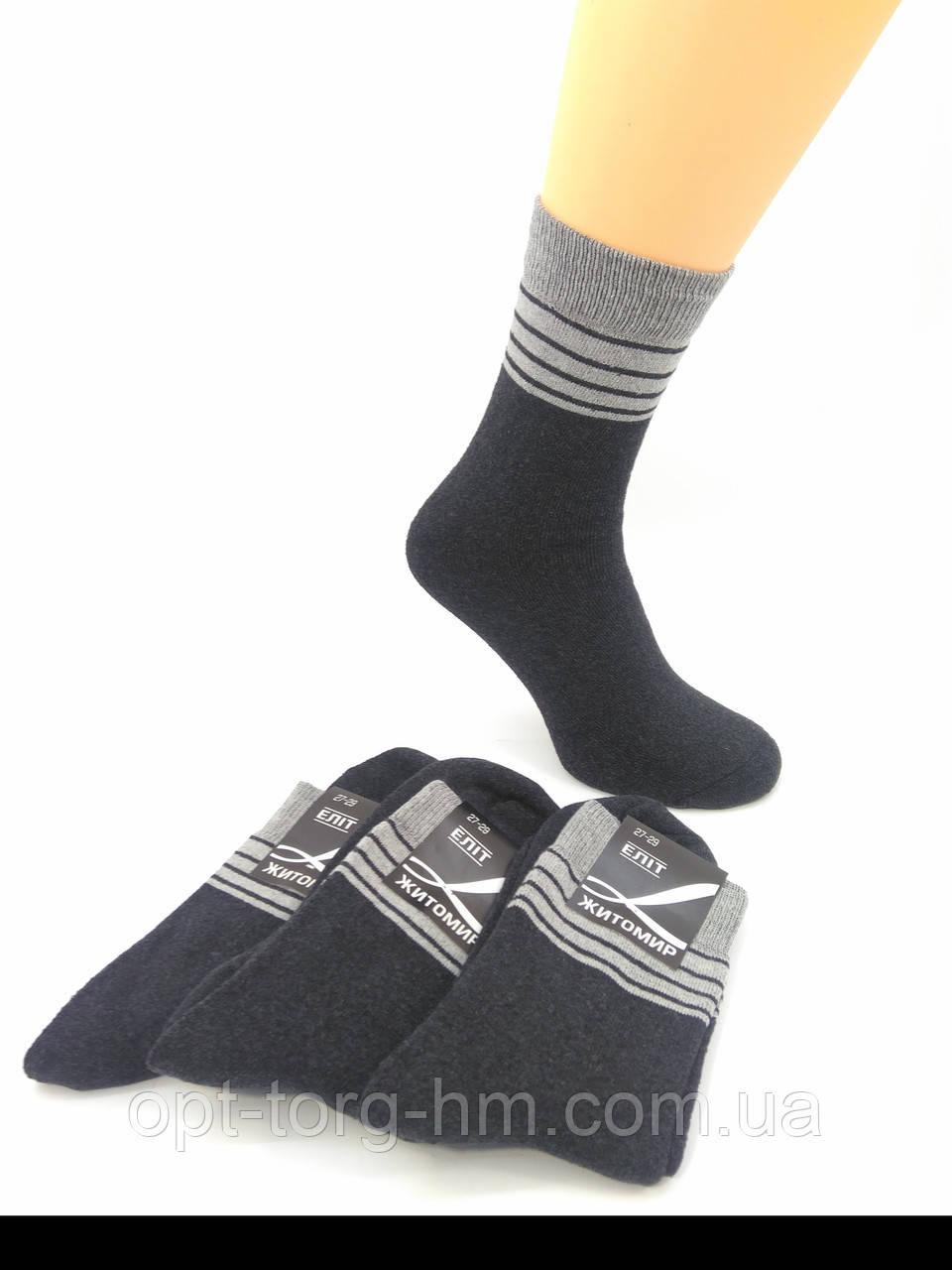 Махровые мужские носки серые со вставкой 27-29 (41-44 ОБУВЬ)