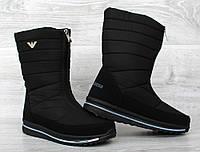 Жіночі зимові чоботи дутики на блискавку  (Пр-3108ч)