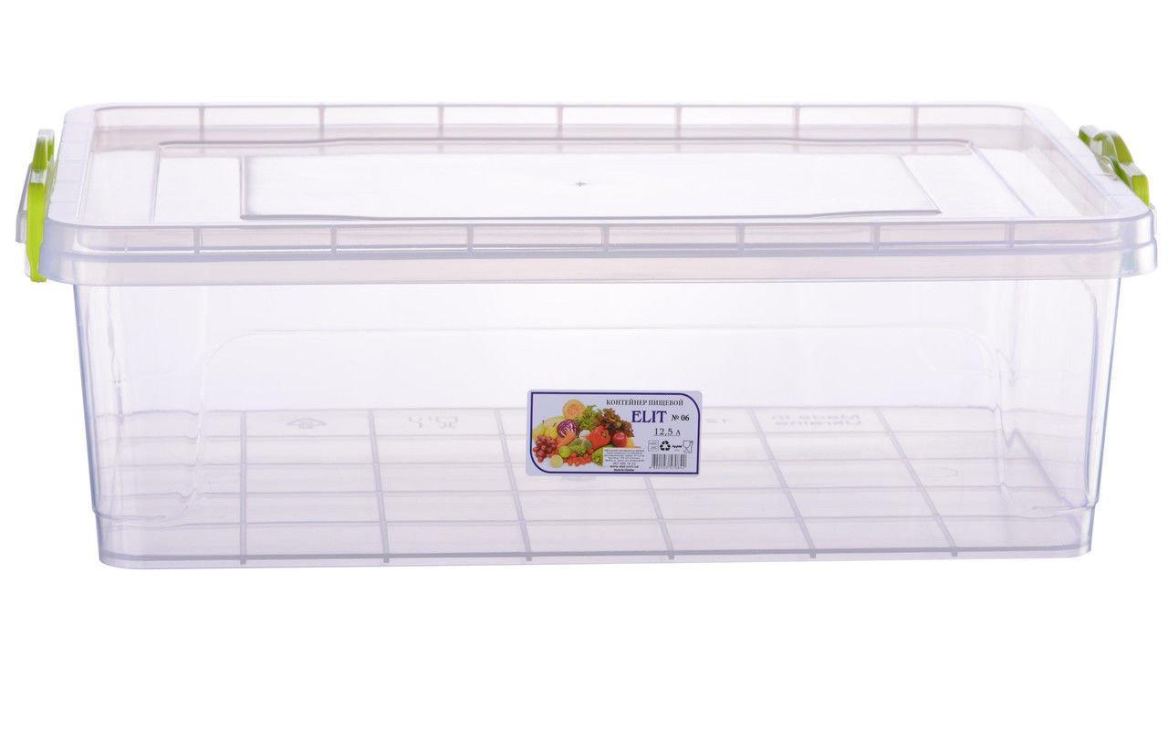 Контейнер для еды Ал-пластик  объём 12.5 л  с ручками