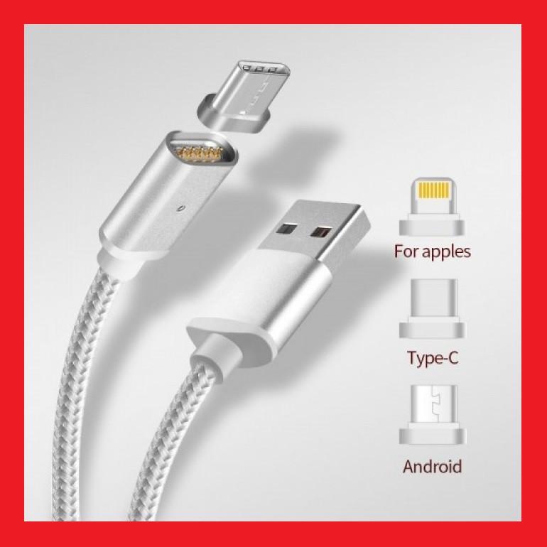 Магнитный кабель USB - microUSB \ Lightning \ Type-C
