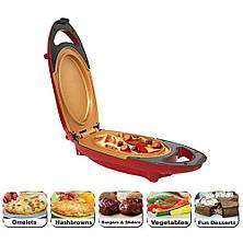 Инновационная электросковорода Red Copper 5 minuts chef / электрическая скороварка для вторых блюд, фото 3