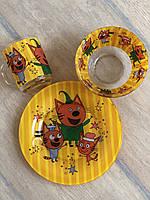 Набор Детской Посуды Три Кота, 3 предмета