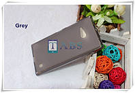 Чехол силиконовый TPU матовый Nokia Lumia 730 Dual SIM серый
