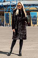 Шуба Шиншилла №21 с утеплителем черный