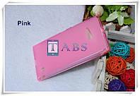 Чехол силиконовый TPU матовый Nokia Lumia 730 Dual SIM розовый
