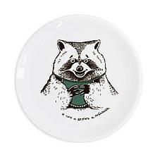 Тарелка подарочная керамическая Енот 25 см