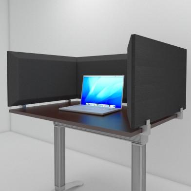 Настольная акустическая ширма для офисных столов и колл-центров Desktop Acoustic Screen Color U-Type