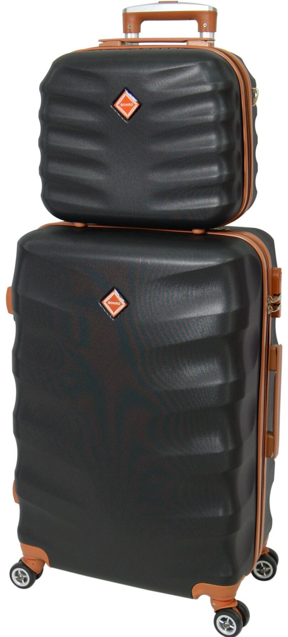 Комплект чемодан и кейс Bonro Next большой. Цвет черный.