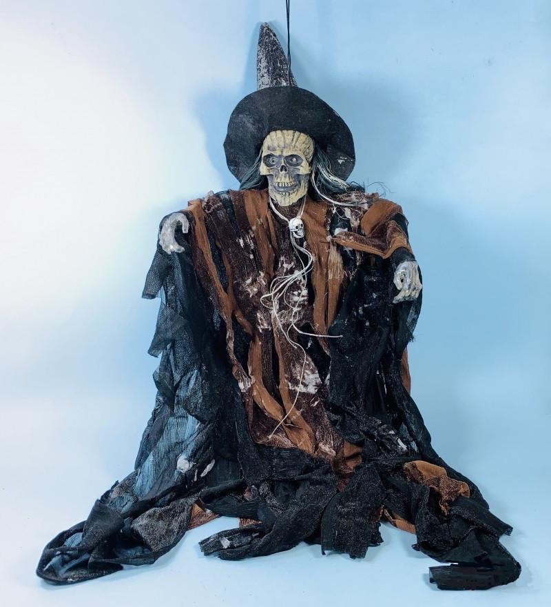Кукла ведьма на Хэллоуин музыкальная 30 см