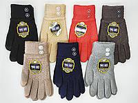 """Женские  сенсорные перчатки """"MOZART"""". Стразы на манжете., фото 1"""
