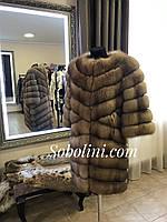 Работы магазина Соболини, шуба из лесной куницы, фото 1