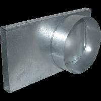 Переходник канал-труба 90 ° 125 для подвода извне