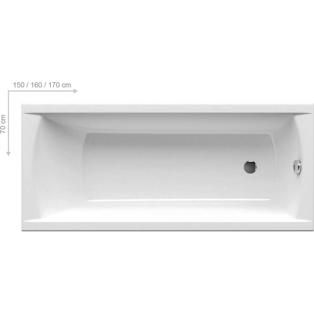 Ванна пристінна Ravak Classic 140x70
