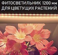 LED фитосветильник для цветущих растений 1200 мм 16 Вт T8-2835-1.2FS WW:R=2:2 2 белых 2 красных