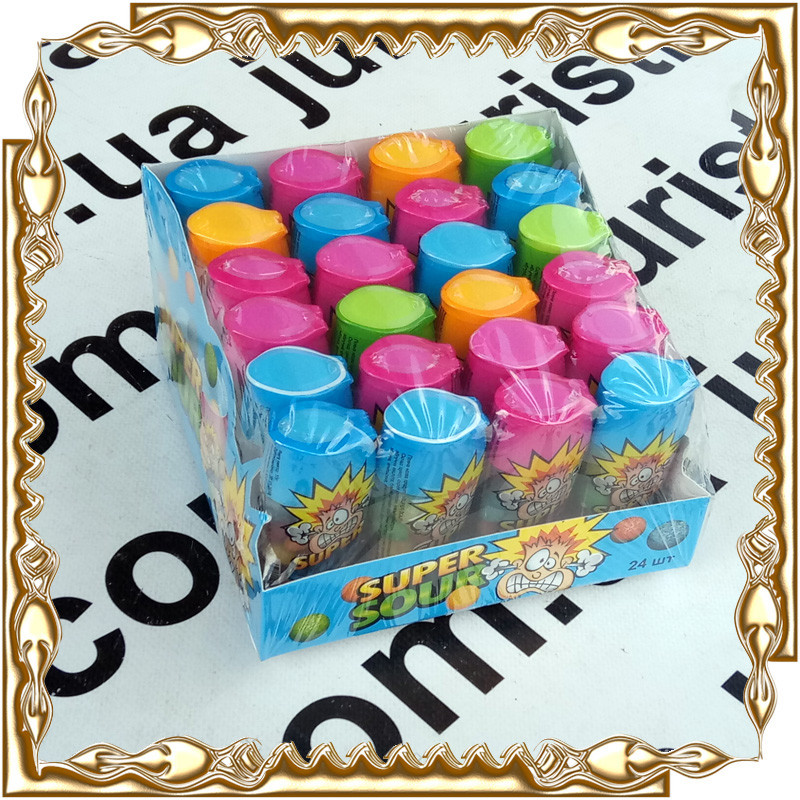 Кислая конфета Super Sour 15 г. 24 шт./уп.