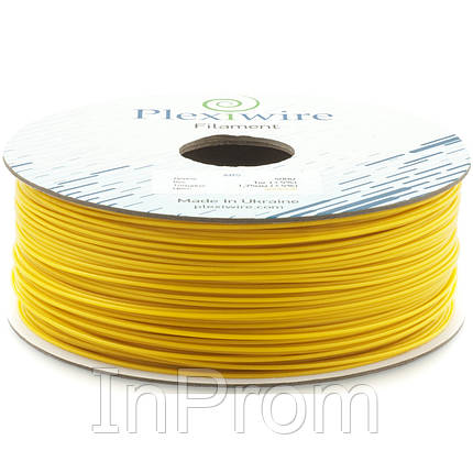 ABS пластик для 3D принтера 1.75мм желтый (300м / 0.75кг), фото 2