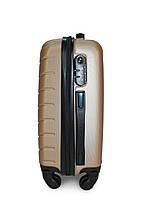 Пластиковый чемодан Fly S для ручной клади золотистый, фото 3