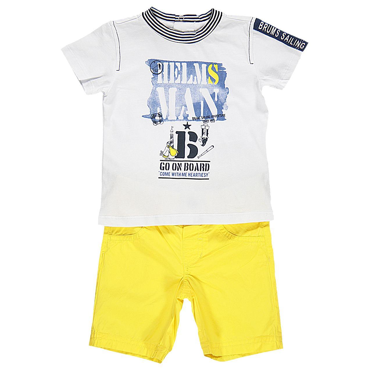Детский комплект для мальчика BRUMS Италия 141BDEA004 Белый