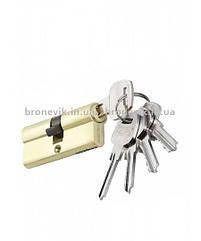 Цилиндровый механизм PALADII ST 60мм (30*30)SB желто-матовый ключ/ключ 5 кл.