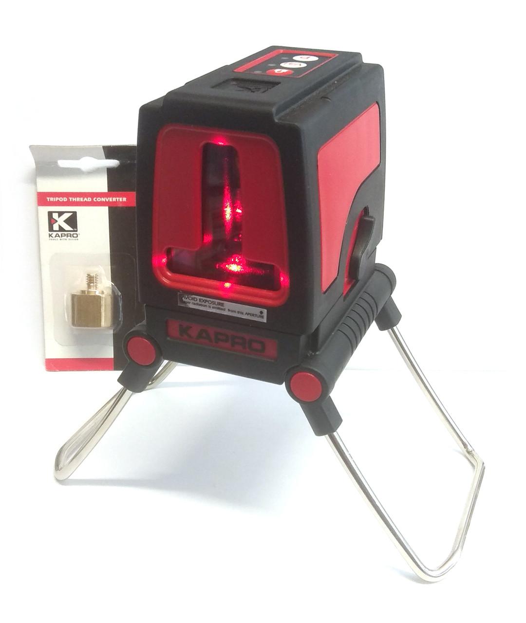 Лазерний уровень Kapro 872. В комплекте нейлоновый чехол, а также фирменный адаптер-переходник.