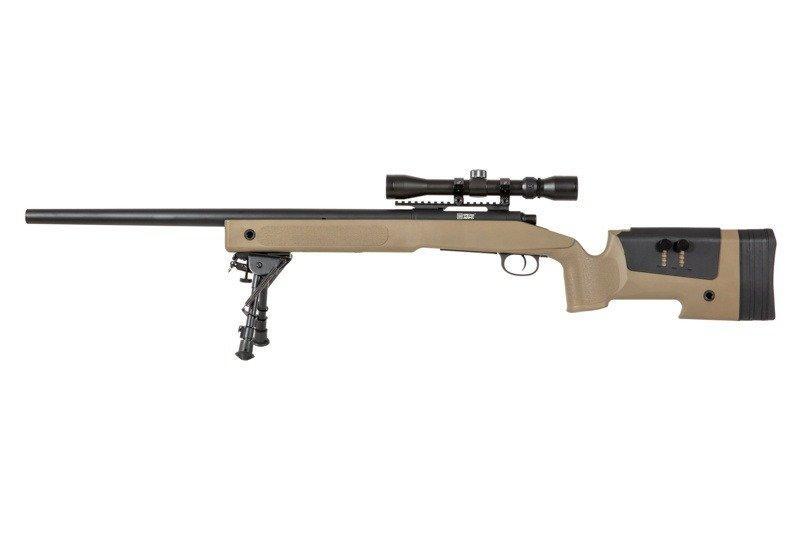 Снайперська гвинтівка Specna Arms M62 SA-S02 Core With Scope and Bipod Tan